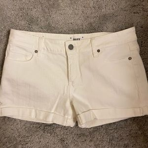 Paige White Denim Shorts Size 27